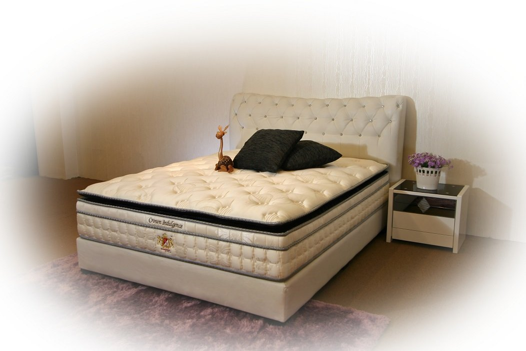 Crown Indulgence - Individual Pocketed Spring, Natural Latex Layer, Pure Silk Fabric Mattress