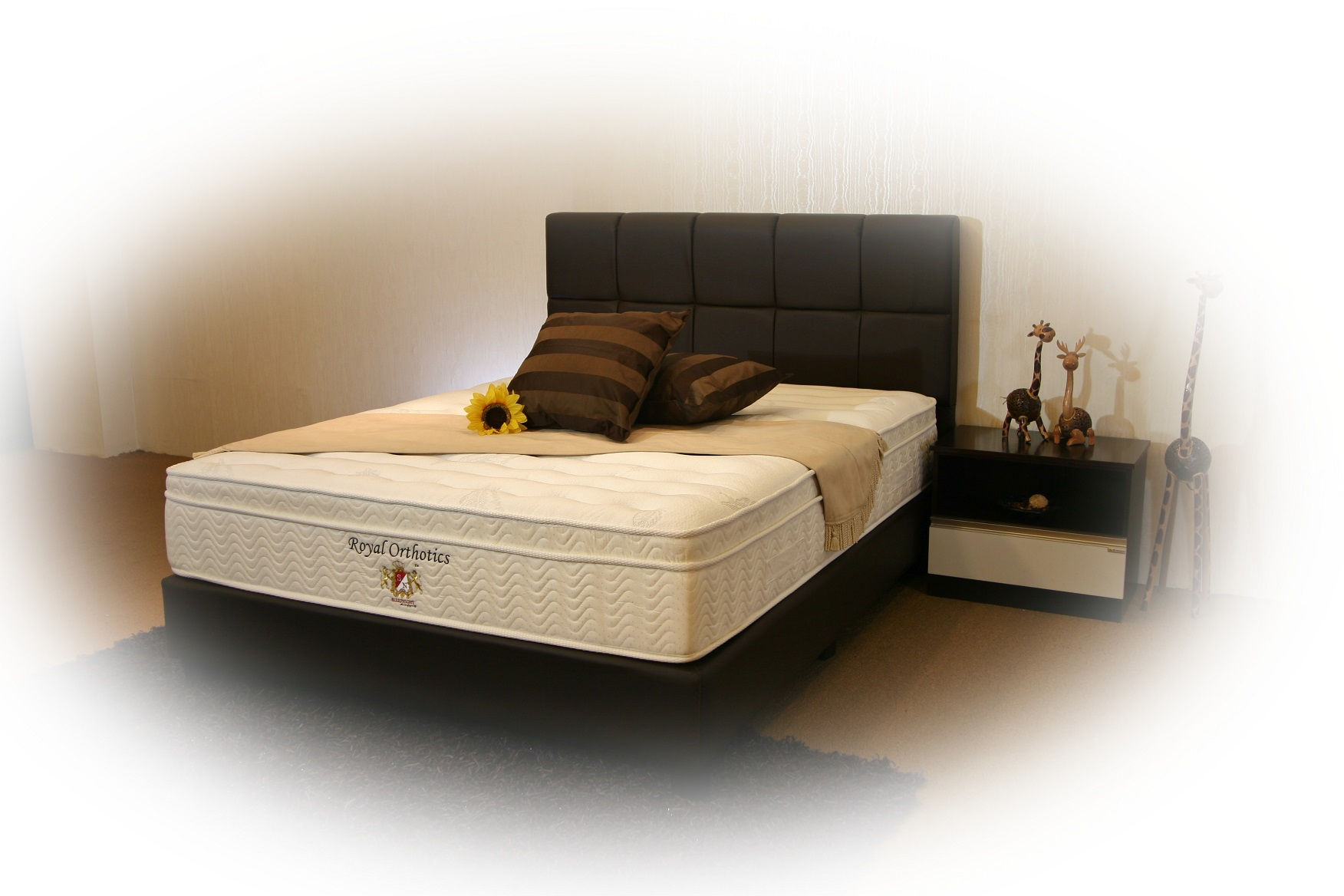 Royal Orthotics - Individual Pocketed Spring, Natural Latex Layer, Silver Infused Belgium Fabric Mattress