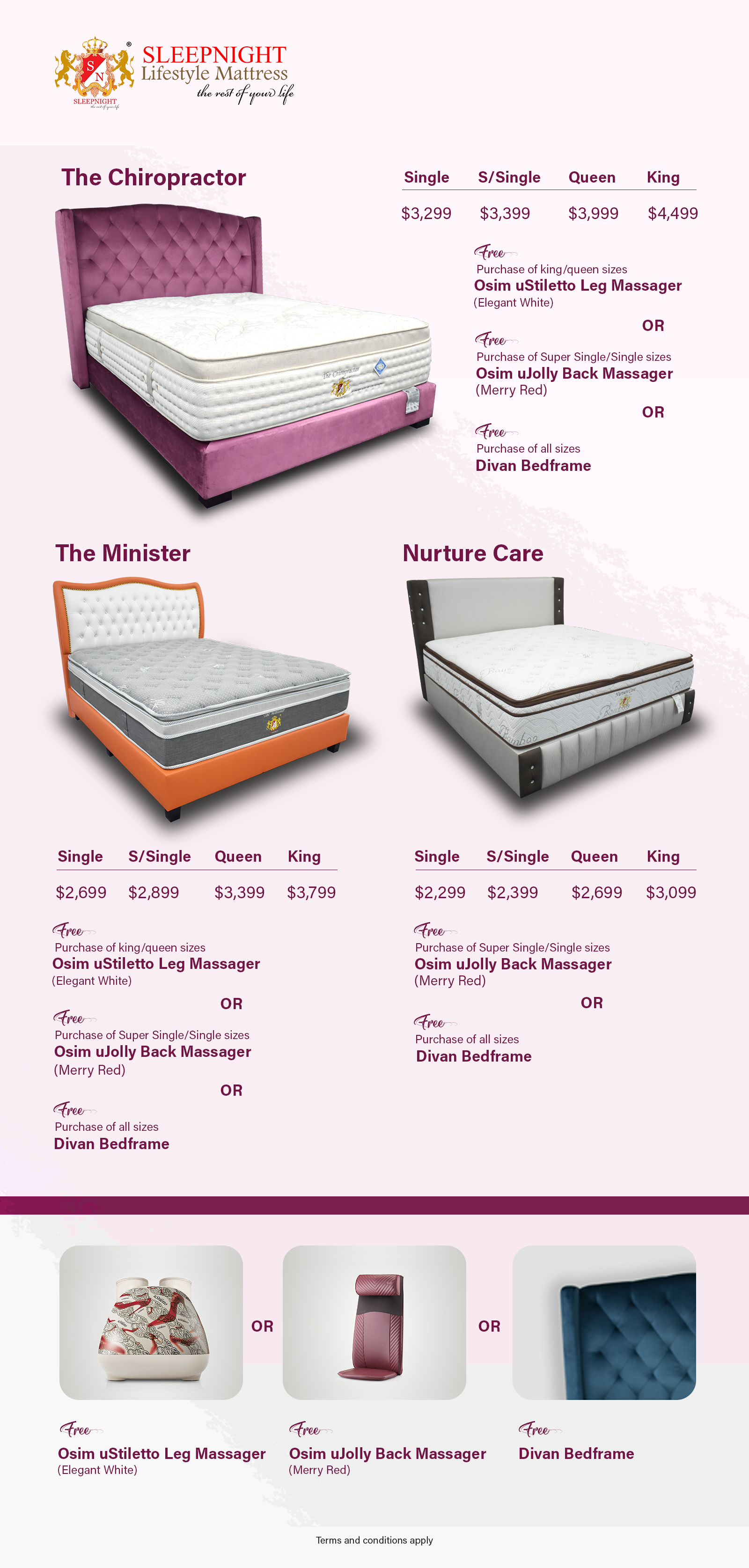 Different Sleep Night Mattresses